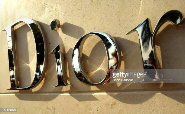 The Dior logo is shown on the front of a Dior store during the 56th International Cannes Film Festival 2003 May 19, 2003 in Cannes, France. Thousands...