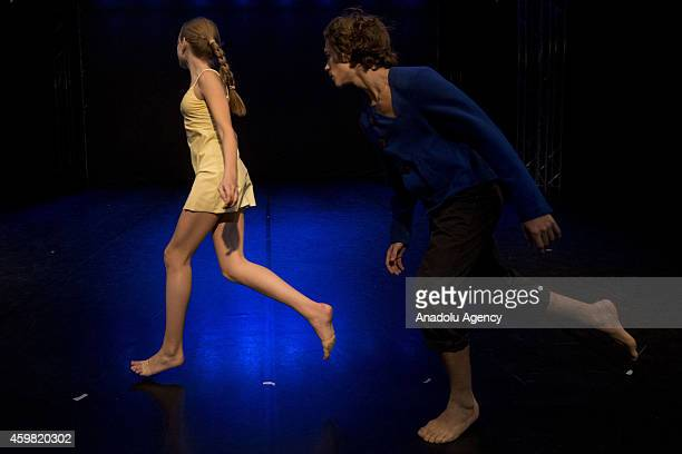 The direction of modern choreography Afonina Irina and Igor Shegay at the Cultural Center ZIL in Theatre Studio in Moscow Russia on December 2 2014