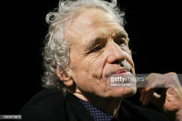 The director Abel Ferrara during a press conference to present the comedy which he directed Forcella Strit at the Trianon theater in Naples