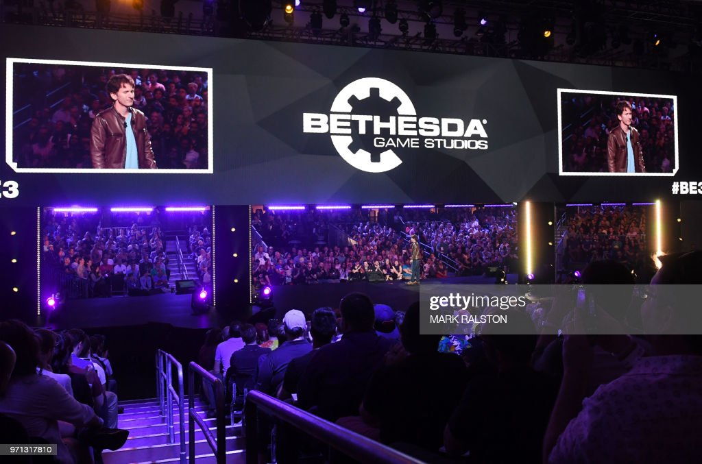 The Director And Executive Producer At Bethesda Game Studios, Todd Howard,  Addresses The Crowd