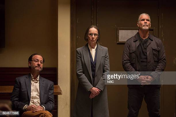 THE BLACKLIST 'The Director Conclusion' Episode 310 Pictured Fisher Stevens as Marvin Gerard Susan Blommaert as Mr Kaplan Andrew Divoff as Karakurt