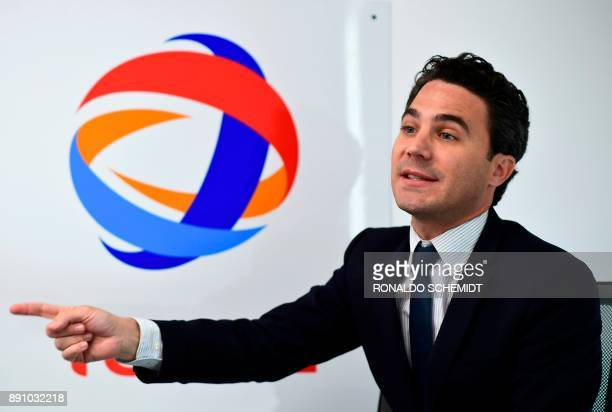 The director general of French company Total in Mexico Alexandre DuretProux speaks during an interview with AFP in Mexico City on November 23 2017...
