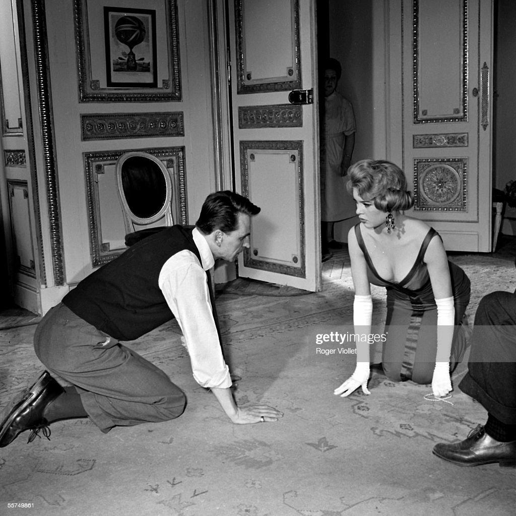 The director Michel Boisrond with Brigitte Bardot, : News Photo