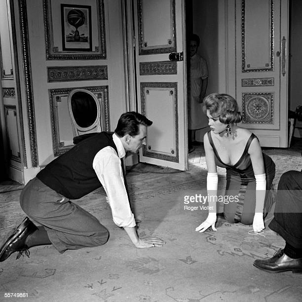 The director Michel Boisrond with Brigitte Bardot during the shooting of the film A Parisian 1957 ADR275020