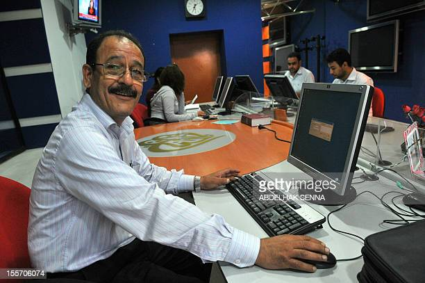 The director of Al Jazeera Morocco Abdelkader Kharroub sits in an office of the news channel headquarters on October 29 2010 in Rabat Morocco has...