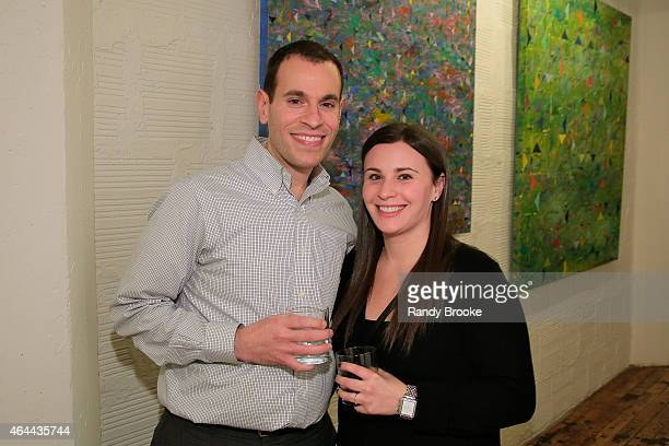 The Director of Finance at FilmRise Craig Bromberg and Heather Bromberg attend FilmRise Celebrates new office in Industry City Brooklyn at FilmRise...