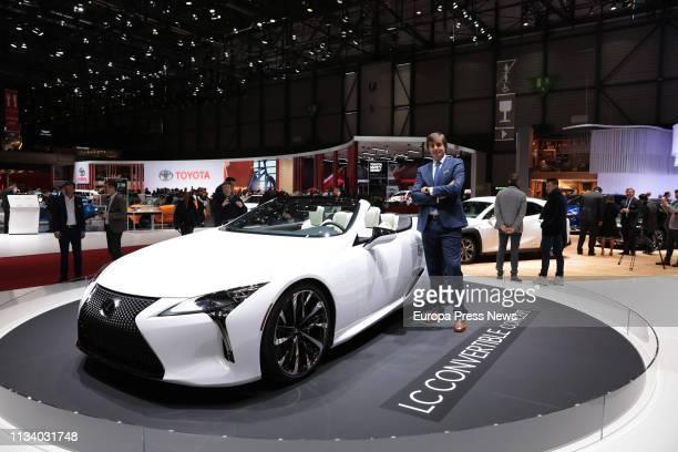 The director of Lexus in the spanish market Leonardo Carluccio is seen in the International Geneva Motor Show on March 05 2019 in Geneva Switzerland