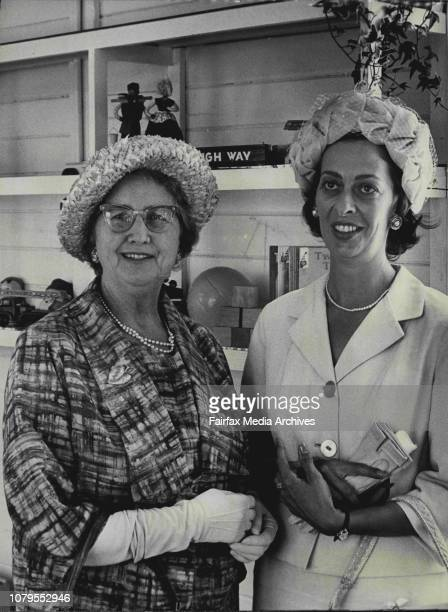 The Director of Maternal and Baby Welfare DR Grace Browne with the president of the Prince Henry Hospital Medical Social Group Mrs Leonard Bear at...