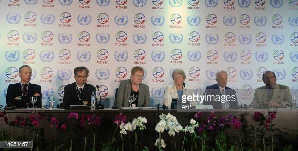 The Director of Stockholm Resilience Centre Johan Rockstrom the President of the International Council for Science Taiwan's Yuan Tseh Lee former...