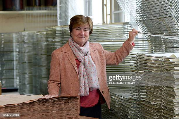 The director of the company Papier d'Armenie, Mireille Schvartz, poses on October 16,2013 at the plant's headquarters in Montrouge. Papier d'Arménie...