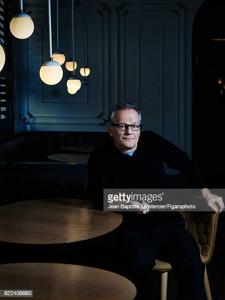 The director of the Institut Lumière and of the Cannes Film Festival Thierry Fremaux is photographed for Madame Figaro on September 8 2016 at the...