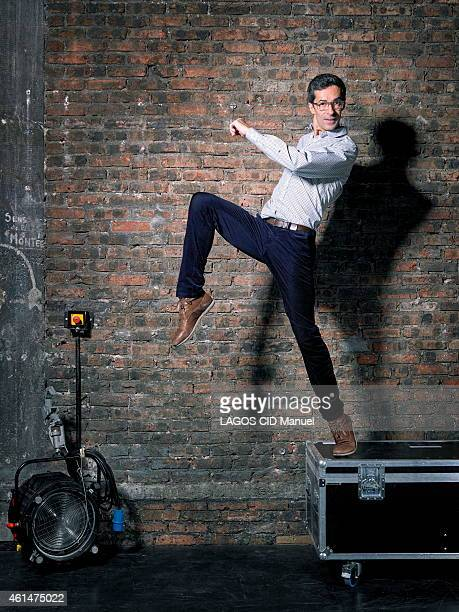 The director of the new National Dance Company of Spain and choreographer Jose Martinez poses on November 24 2014 in Paris France