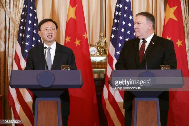 The Director of the Office of Foreign Affairs of the Central Commission of the Communist Party of China Yang Jiechi and U.S. Secretary of State Mike...