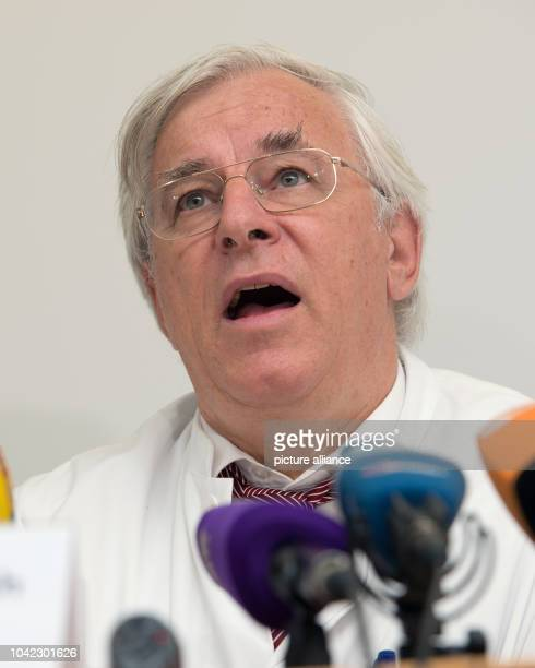 The director of the Surgical Department and Outpatient Clinical Center Großhadern, Karl-Walter Jauch, speaks during a press conference in...