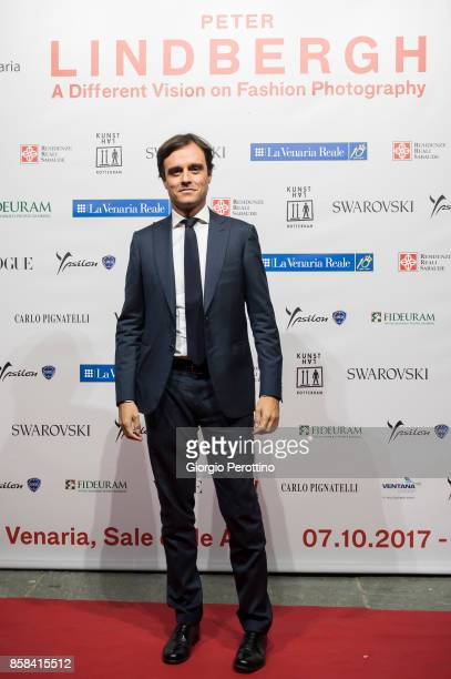 The director of Vogue Italy Emanuele Farneti attends the opening gala of 'A Different Vision On Fashion Photography' By Peter Lindbergh Exhibition at...