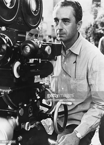 The director on set of the 1960 film L'Avventura