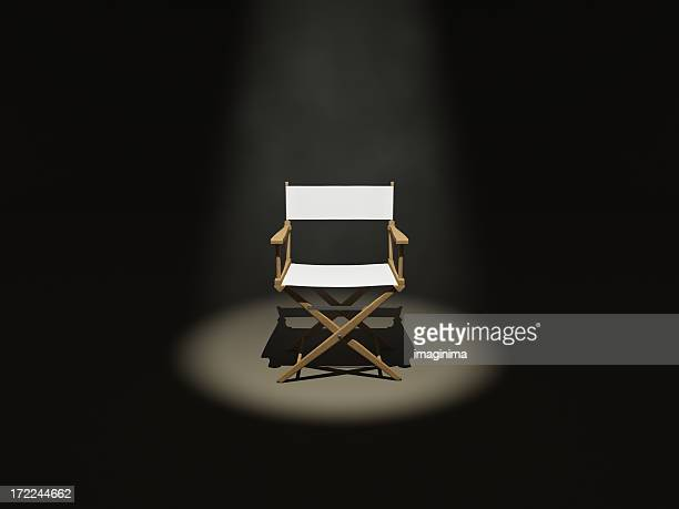 the director (front) - chair stock pictures, royalty-free photos & images