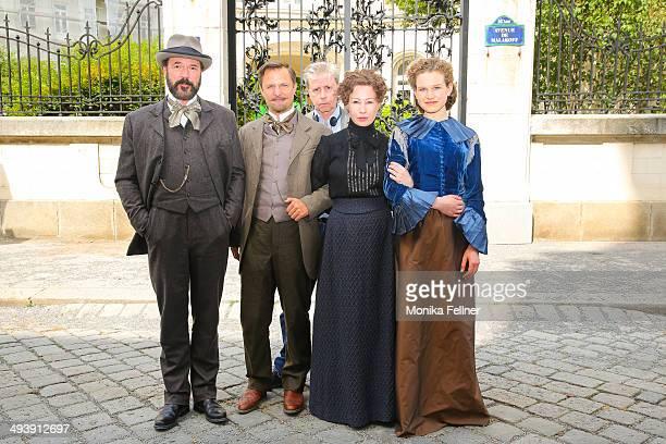The director Urs Egger and actors Birgit Minichmayr as Bertha von Suttner Sebastian Koch as Alfred Nobel Philipp Hochmair as Arthur von Suttner and...