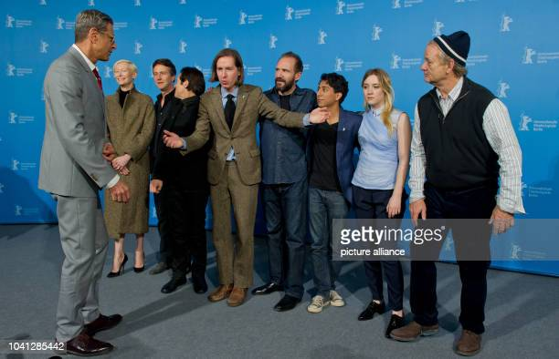 The director Wes Anderson and the actors Jeff Goldblum Tilda Swinton Edward Norton Willem Dafoe Ralph Fiennes Tony Revolori Saoirse Ronan und Bill...