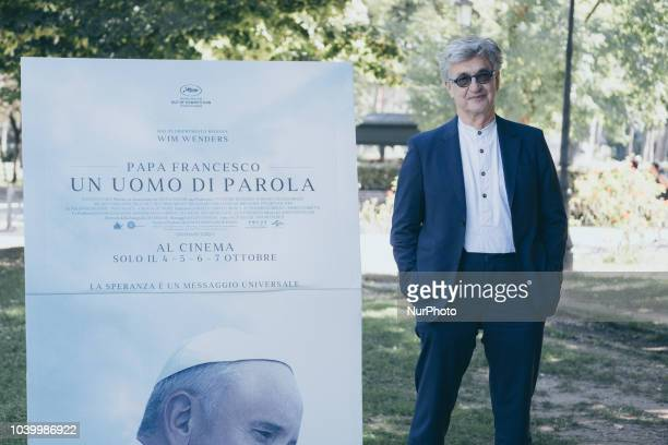 A Porta a Porta Talk Show by Bruno Vespa interview with the German director Wim Wenders September 25 2018