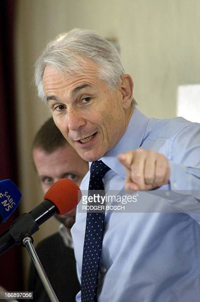 The director-general and chief exectutive officer of the International Air Transport Association , Tony Tyler, speaks on 18 April 2013 at a lunch...