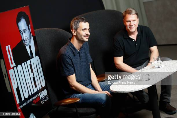 The directors and screenwriters Enric Bach and Justin Webster are seen during the interview with Europa Press in which they have presented their HBO...