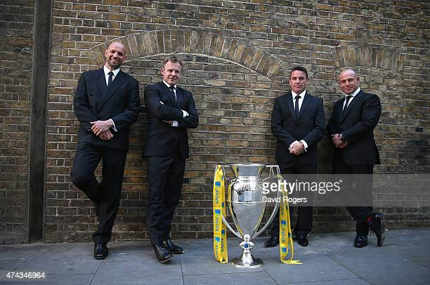 The directors of rugby of the four Aviva Premiership semi finalists Jim Mallinder of Northampton Saints Mark McCall of Saracens Mike Ford of Bath and...