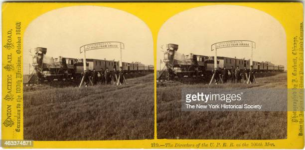 The Directors of the Union Pacific Railroad at the 100th Meridian October 1866