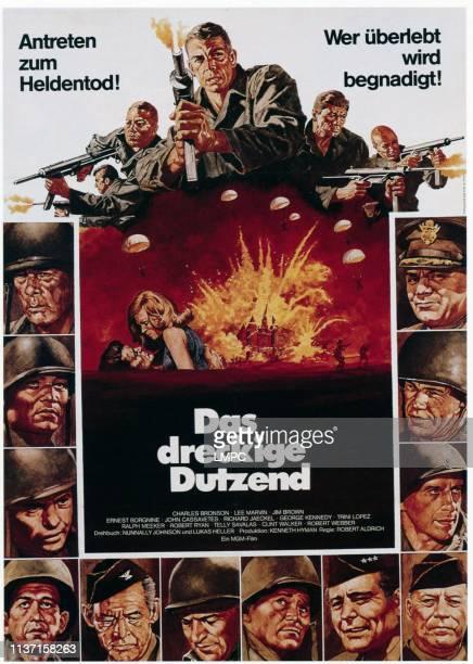 The Dirty Dozen, poster, : Ernest Borgnine, Charles Bronson, John Cassavetes, George Kennedy, Robert Webber, Ralph Meeker, Telly Savalas, Robert...