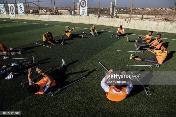 The disabled youths are seen training A group of Syrian youths who have been injured and disabled as a result of the war came together and created a...