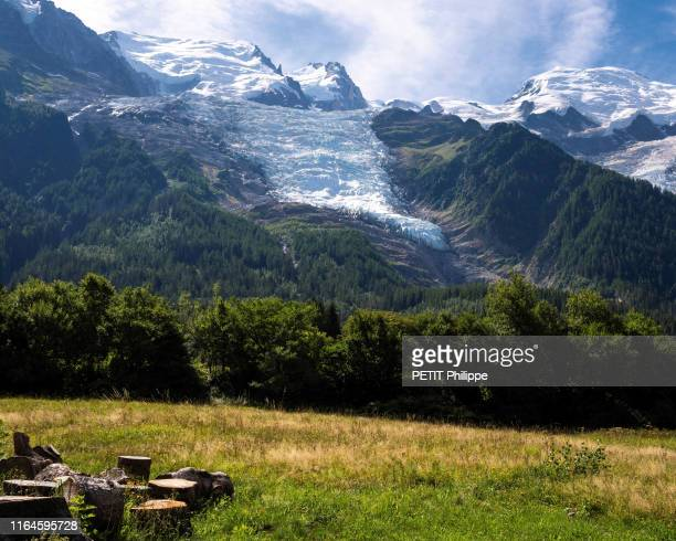 the disappearance of MontBlanc glaciers due to global warming here the glacier of the Bossons The most spectacular of the three glaciers of Mont...