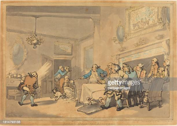 The Disappointed Epicures, 1787. Artist Thomas Rowlandson.