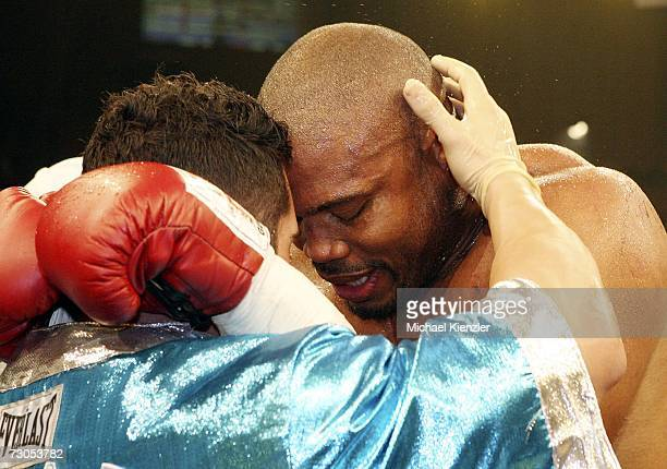 The disappointed Jameel McMCline after the WBA World Heavyweight Championship fight between Nikolay Valuev of Russia and Jameel McCline of United...