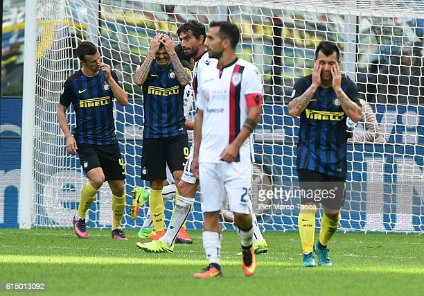 The disappointment of Mauro Icardi of FC Internazionale after having missed the penaltyduring the Serie A match between FC Internazionale and...