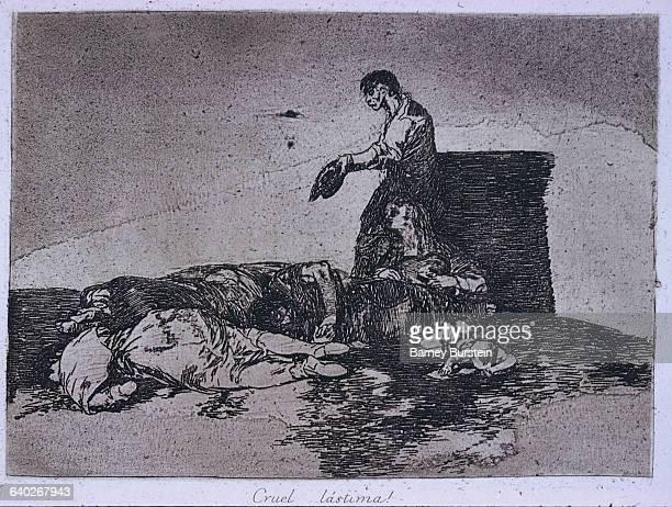 A cruel shame by Francisco Goya