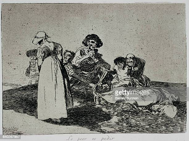 The worst is to beg by Francisco Goya