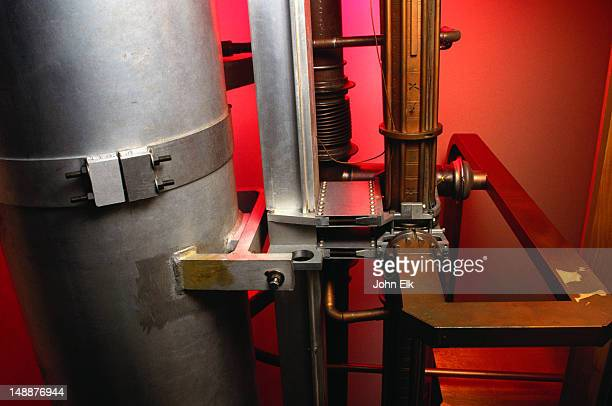 the discovery of quarks and antiquarks has given stanford university's linear accelerator centre two nobel prizes - waveguide atop aluminum light pipe - palo alto, california - nobel prize stock pictures, royalty-free photos & images