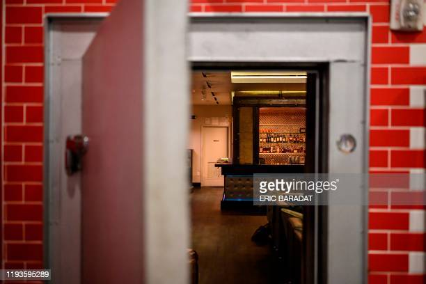 The discreet entrance of the Capo Speakeasy bar and club is open inside a Deli shop in WashingtonDC on January 3 2020 A century after the United...
