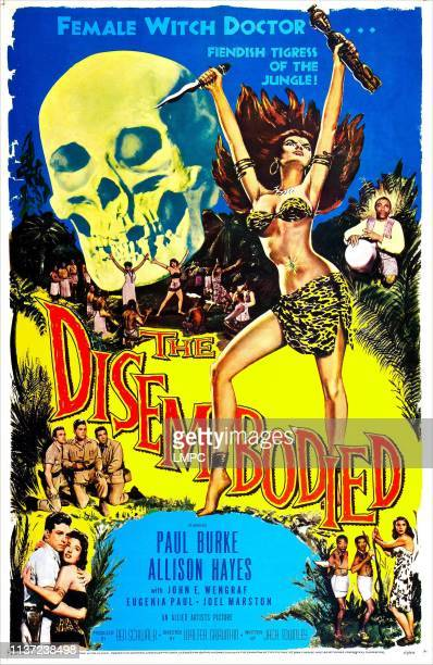 The Disembodied poster US poster bottom left Paul Burke Allison Hayes 1957
