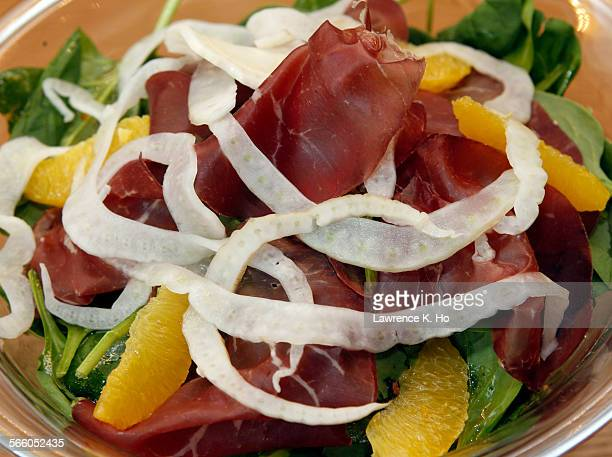 The dish Bresaola salad–cured Beef oranges arugula and fennel Restaurant Review for Obika Mozzarella Bar on Dec 2 2010