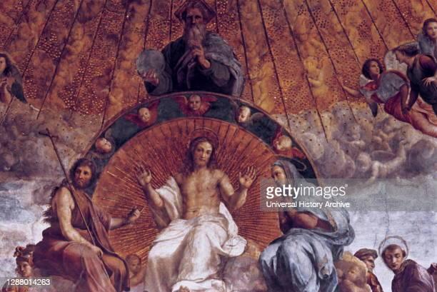 The Disputation on the Holy Sacrament ', , 1508-1509. Artist: Raphael. Raphael was an Italian painter and architect of the High Renaissance. His work...