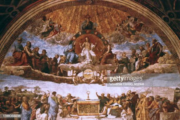 The Disputation on the Holy Sacrament', 1508-1509. Artist: Raphael. Raphael was an Italian painter and architect of the High Renaissance. His work is...