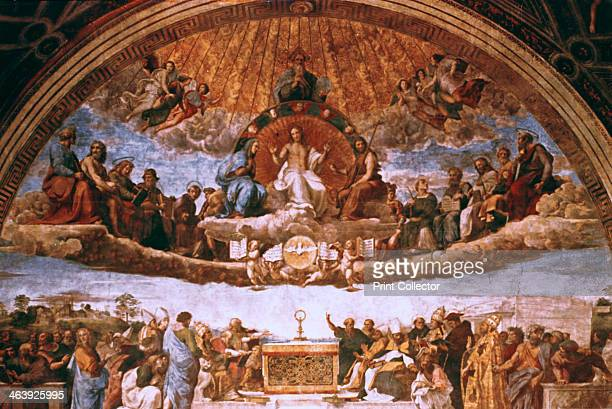 'The Disputation on the Holy Sacrament' 15081509 The fresco can be seen as a portrayal of the Church Militant below and the Church Triumphant above