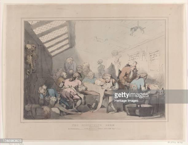 The Dissecting Room, circa 1838. Artist T. C. Wilson.