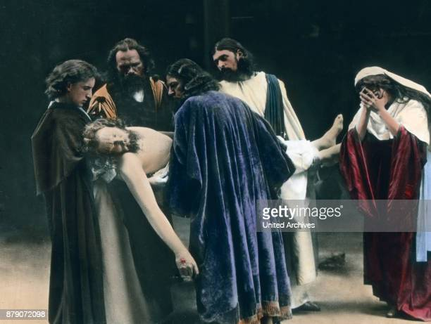 The distinguished councilor Joseph of Arimathea has received permission from Pilate to bury the body of Christ in his carved rock tomb The grave is...