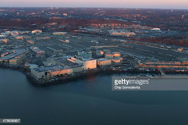 The District of Columbia's Blue Plains Advanced Wastewater Treatment Plant is seen along the Potomac River February 26, 2014 in Washington, DC.