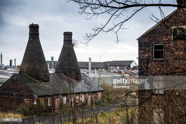 The disused Falcon Pottery works site stands in StokeonTrent UK on Monday Jan 7 2019 Stoke 135 miles north of the Palace of Westminster in London and...