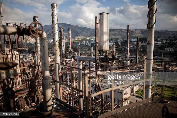 The disused oil refinery near Baddawi on the outskirts of Tripoli Lebanon on January 23 2012 The refinery once brought oil into the country from...