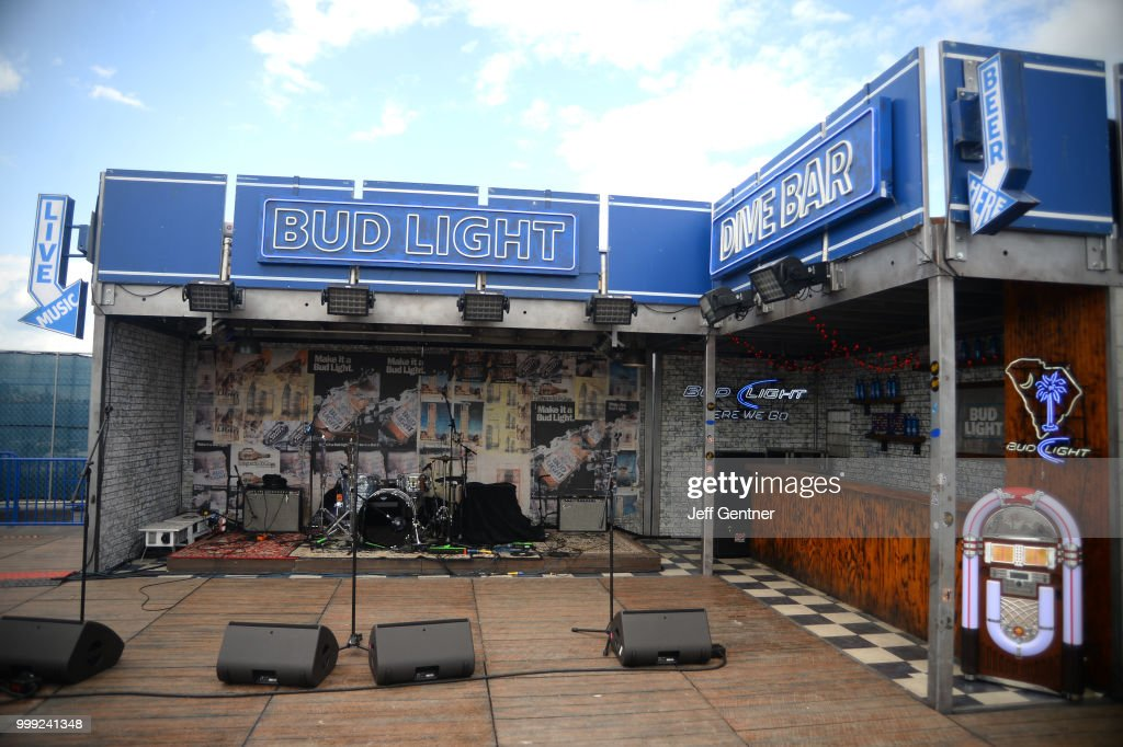 The Dive Bar Stage Is Empty At The Bud Light Getaway At