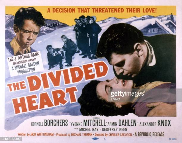 The Divided Heart poster Martin Stephens Yvonne Mitchell 1954